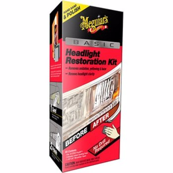 Kit polish faruri Meguiar's, fara masina polish, Basic Headlight Restoration Kit