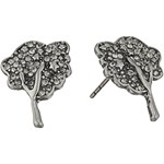 Marc Jacobs Charms Pave Tree Studs Earrings Culoarea Black Diamond/Antique Gold