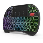 Mini tastatura wireless iluminata RGB touchpad scroll mouse taste multimedia Rii X8 rtmwkx8