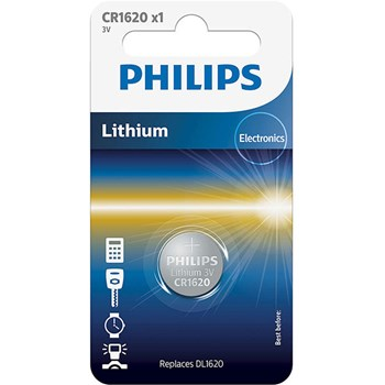 Baterie Philips Cr1620, 3V, Litiu, 1 buc
