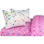 Lenjerie de pat King Size Heinner Home HR-4KGBED144-BTFLY, Bumbac, 4 piese Multicolor hr-4kgbed144-btfly