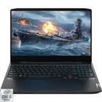 Laptop Lenovo Gaming 15.6'' IdeaPad 3 15IMH05, FHD IPS 120Hz, Procesor Intel® Core™ i5-10300H (8M Cache, up to 4.50 GHz), 8GB DDR4, 512GB SSD, GeForce GTX 1650 Ti 4GB, Free DOS, Onyx Black