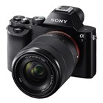 Sony A7 kit FE 28-70mm f/3.5-5.6 OSS - 24.3Mpx Full Frame, AF hibrid, 5 fps, Wi-Fi