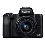 Aparat foto mirrorless EOS M50, 24.1 MP, 4K, Wi-Fi, Negru + Obiectiv EF-M 15- 45mm f/3.5-6.3 IS STM