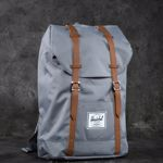 Herschel Supply Co. Retreat Backpack Grey/ Tan Synthetic Leather