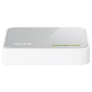 Switch TP-LINK SF1005D, 5 porturi Fast Ethernet, alb