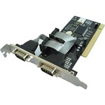Adaptor 4World 1x PCI Male - 2x Serial Male