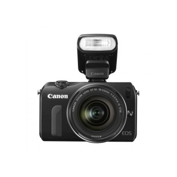 EOS-M + 18-55mm IS STM - negru ( blitz 90EX inclus )
