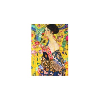 Puzzle Gold Puzzle - Gustav Klimt: Lady with Fan, 1.000 piese (Gold-Puzzle-60522)