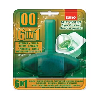 Odorizant WC, solid, 55gr, SANO Green Bon 00 6-in-1