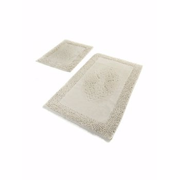 Set covoare de baie, Chilai Home by Alessia, 2 piese, 60 x 100 cm, 359CHL1634, bumbac, Alb