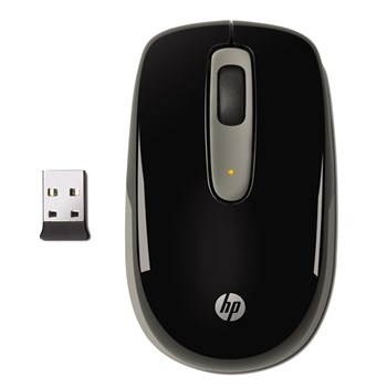 Mouse Wireless HP LB454AA Mobile, Negru