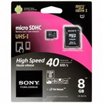 Card de memorie Sony Micro SD 8GB Clasa 10 + adaptor SD