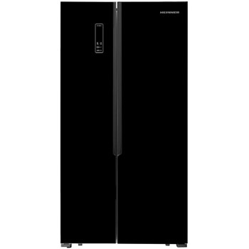 Frigider Side by side Heinner HSBS-H430NFBK+, no frost, control electronic, capacitate bruta: 472L