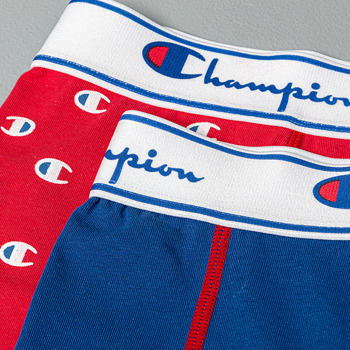 Champion 2 Pack Boxers Red/ Blue