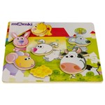 Puzzle 3D magnetic - Animale domestice, 6 piese