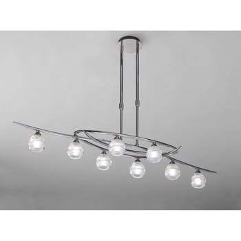 Lustra Mantra M1800 Loop Pendant 8 Light Polished Chrome