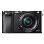 Aparat foto Mirrorless Sony Alpha A6000, 24.3MP, Body, Negru