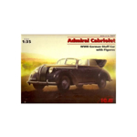 Opel Admiral Cabriolet WWII German Staff Car with Figures 1:35