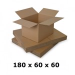 Cutie carton 180x60x60, natur, 3 starturi CO3, 435 g/mp