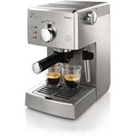 Espressor manual Saeco Poemia HD8427/19, Dispozitiv spumare, 15 Bar, 1.25 l, Inox