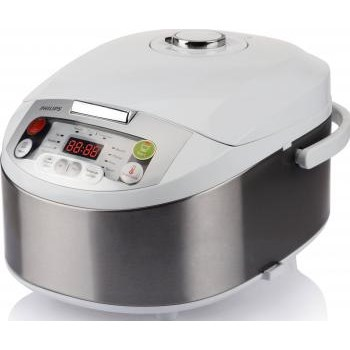 Philips Multicooker Viva Collection HD3037/70, 980 W, 5 l, programe automate, timer, alb/argintiu