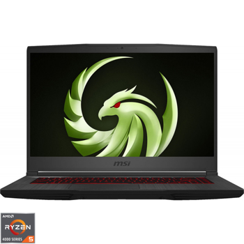 "Laptop Gaming MSI Bravo 15 A4DDR-246XRO cu procesor AMD Ryzen™ 5 4600 pana la 4.00 GHz, 15.6"", Full HD, 144Hz, 8GB, 256GB SSD, AMD Radeon™ RX 5500M 4GB, Black"