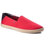 Espadrile TOMMY HILFIGER - Easy Summer Slip On FM0FM00569 Tango Red 611