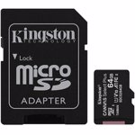 Card de memorie MicroSD Kingston Canvas Select Plus, 64GB, 100MB/s, cu adaptor
