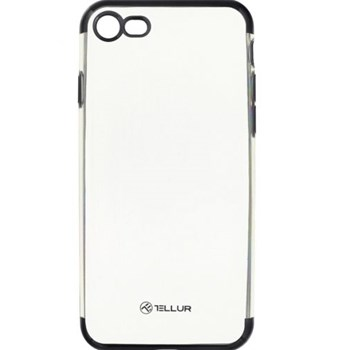 Husa Cover Tellur Silicon Electroplated iPhone 8 Black tll121133