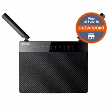 Router Wireless Tenda AC9, Gigabit, Dual band, 1200 Mbps, 2 Antene externe