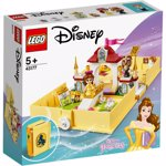 LEGO 43177 Disney Princess Belle's Storybook Adventures Castle Set from Beauty and the Beast Movie, Travel Case Toy