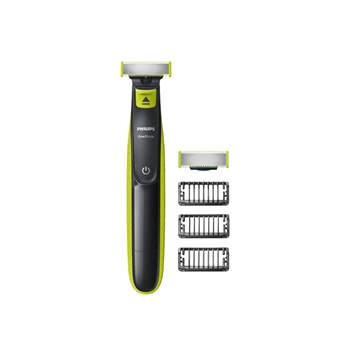 Philips OneBlade Hybrid Stubble Trimmer and Shaver with 3 x Lengths and One Extra Blade Amazon Exclusive (UK 2-Pin Bathroom Plug), QP2520/30