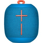 Ultimate Ears Wonderboom Portable Wireless Bluetooth Speaker, Thundering Bass, 360 Sound, Waterproof, Connect Two Speakers for Loud Hi-Fi, 10 Hour Battery Life, 100 ft Range - Subzero Blue