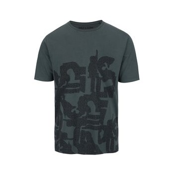 Tricou verde inchis ONLY & SONS Adomas din bumbac cu print