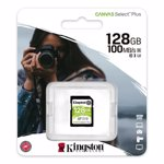 Card de memorie Kingston SDXC Canvas Select Plus, 128GB, Class 10, UHS-I U3 V30