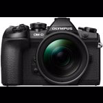 Aparat foto Mirrorless Olympus OM-D E-M1 Mark II 20 Mpx Black Kit Double Zoom 12-40mm F2.8 si 40-150mm F2.8 PRO