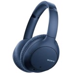 Casti audio Sony WH-CH710NL, Noise Canceling, Google Assistant, Wireless, Bluetooth, NFC, Autonomie de 35 ore, Albastru