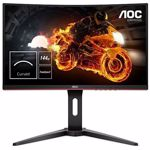 "Monitor Gaming VA LED AOC 24"" C24G1, Full HD (1920 x 1080), VGA, HDMI, DisplayPort, Ecran curbat, 144 Hz, 1 ms (Negru)"