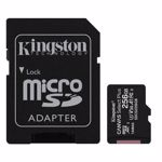 Card de memorie MicroSD Kingston Canvas Select Plus, 256GB, UHS-I, Class 10 + Adaptor SD