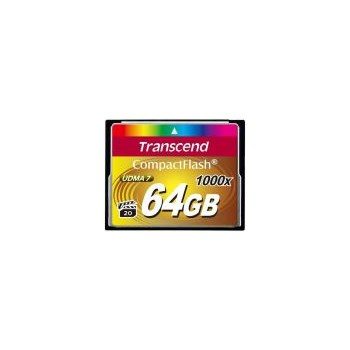 Card de memorie Transcend 64GB Compact Flash 1000x ts64gcf1000