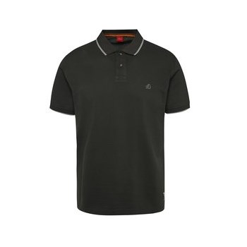 Tricou polo gri antracit s.Oliver cu detalii in contrast