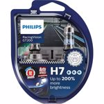 Set 2 becuri auto Philips H7 Racing Vision GT200 +200 12V 55W 12972RGTS2
