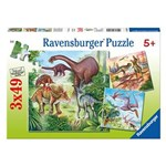 Puzzle 3 in 1 - Dinozauri, 147 piese