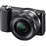 Aparat foto Mirrorless Sony A5000, 20.1 MP, Negru + Obiectiv 16-50 mm