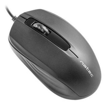 Mouse Natec Optical HOOPOE 1600 DPI, USB, Black