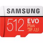 Card de memorie Samsung EVO Plus MB-MC512GA/EU, Micro SDXC UHS-I 512GB (Clasa 10), 90MB/s, Waterproof + Adaptor SD