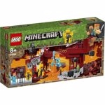 LEGO 21154 Minecraft Bridge Alex Minifigure, Wither Skeleton Figure, Lava and Blaze Mob Elements the Nether Micro World Toys for Kids