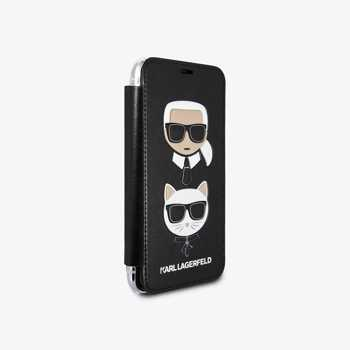 Karl Lagerfeld Karl and Choupette Book iPhone XS Max Case Black