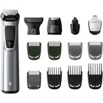 Kit de ingrijire Face, Head & Body 14 in 1 Philips Multigroom MG7720/15, Fara fir, 120 min., Rezistent la apa, Negru